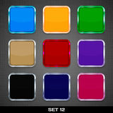 Set Of Colorful App Icon Templates. Buttons, Backgrounds. Set 12. Vector Royalty Free Stock Photography