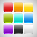 Set of Colorful App Icons Backgrounds Stock Images