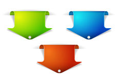 Set of colorful arrow bookmarks Stock Image