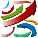 Set colorful arrow icons Stock Photo