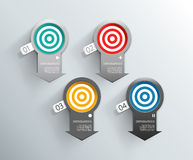Set of colorful arrow labels for wide variety of use. Royalty Free Stock Image