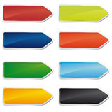 Set of colorful arrows Stock Photos