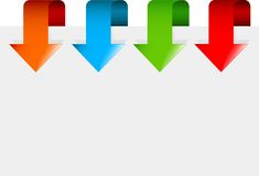 Set of colorful arrows Royalty Free Stock Photography
