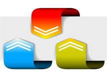 Set of colorful arrows Stock Image