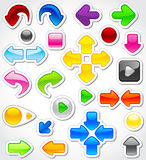 Set of colorful arrows stock illustration
