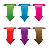 Set of colorful arrows Stock Photography