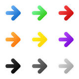 Set of colorful arrows Royalty Free Stock Images