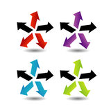 Set of colorful arrows Royalty Free Stock Image