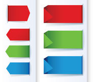 Set of Colorful Arrows and Design banners. Stock Photo