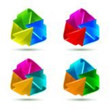 Set of colorful arrows icons Stock Photo