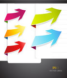 Set of colorful arrows. Stock Photos