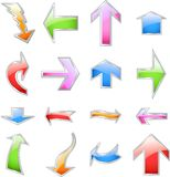 Set colorful arrows. Vector Royalty Free Stock Images