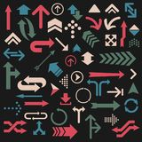 Set of colorful arrows vector illustration Stock Photos