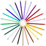 Set of Colorful Art Pencils Stock Photography
