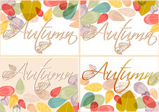 Set of colorful autumn leaves illustration Royalty Free Stock Images