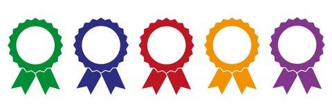 Set of colorful award medals stock illustration