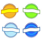 Set of Colorful Awards Buttons Royalty Free Stock Photography