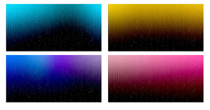 Set of colorful background like aurora star fallen Royalty Free Stock Image