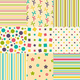 Set of colorful backgrounds Royalty Free Stock Photos