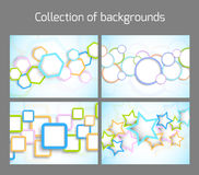 Set of colorful backgrounds Royalty Free Stock Images