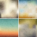 Set of colorful backgrounds. Stock Photography