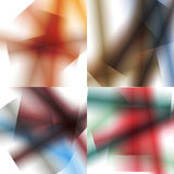 Set of colorful backgrounds with soft gradients and lines. Royalty Free Stock Photos
