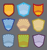 Set of Colorful Badges Vector Stock Images