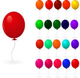 Set of colorful balloons Stock Photos