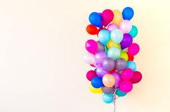 Set of colorful balloons royalty free stock photo
