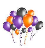 Set colorful balloons for Halloween party Royalty Free Stock Photo