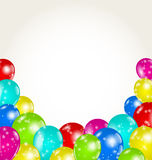 Set colorful balloons for happy birthday Stock Photography