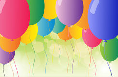 A set of colorful balloons Stock Images