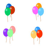 Set of colorful balloons,  illustration Stock Image