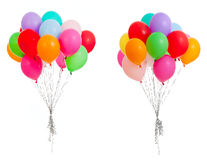 Set of colorful balloons isolated on white Stock Photography