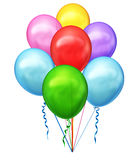 Set of colorful balloons Royalty Free Stock Image