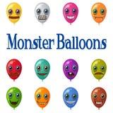 Monster Balloons, Set Royalty Free Stock Image