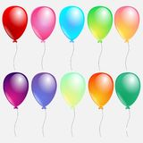 Set of colorful balloons vector illustration