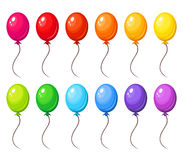 Set of colorful balloons. Vector illustration. Stock Photos