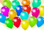 Set colorful balloons for your holiday Royalty Free Stock Image