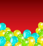 Set colorful balloons for your holiday Stock Image