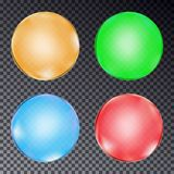 Set of colorful balls isolated on transparent background. Vector Royalty Free Stock Images