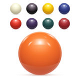 Set of colorful Balls Isolated Vector Royalty Free Stock Photo