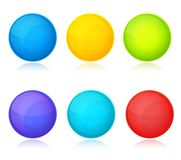 Set of colorful balls on white background. This is file of EPS10 format Stock Photo