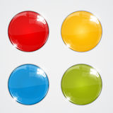 Set of colorful balls on white background Royalty Free Stock Images