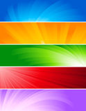 Set of colorful baners Stock Images