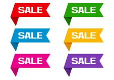 Set of banner ribbons with inscription SALE. Vector illustration vector illustration