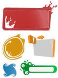 Set with colorful banner templates Royalty Free Stock Images