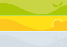 Set of colorful banner. Vector banners for the season. Fine background images Royalty Free Stock Photography