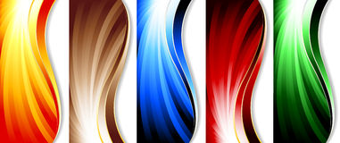 Set of colorful banners Royalty Free Stock Photo