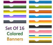 Set of colorful banners Stock Photo